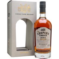 70cl / 46% / Cooper's Choice - A sherried Bunnahabhain from independent bottler The Copper's Choice. Distilled in October 2001 and aged for 15 years, this balances sweeter and richer flavours with notes of cinnamon, orange and plums.