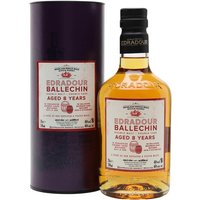 70cl / 46% / Distillery Bottling - How to make a lightly peated whisky at Edradour? Combine one sherry butt of unpeated Edradour with three bourbon barrels of heavily peated Ballechin. Aged for eight years, this has notes of dark chocolate, praline and smoke.