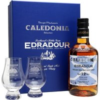70cl / 46% / Distillery Bottling - A gift set for a special bottling of Edradour 12yo, named after Dougie Maclean's most famous song, Caledonia.  This set comes complete with a pair of glasses for sharing the whisky.