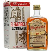 75cl / 46% / Distillery Bottling - An old bottling of Glenfarclas 15 year old whisky, in the rectangular bottle typical of the era. We estimate this bottle dates from the 1980s.