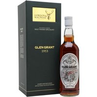 70cl / 40% / Gordon & MacPhail - A 1953 vintage Glen Grant, bottled at over 50 years old by Gordon & Macphail. This was an important year for the distillery, as they merged with Glenlivet to form the imaginatively titled Glen Grant and Glenlivet Distillers Ltd and commenced the expansion that led to the latter being the second biggest malt in the world.