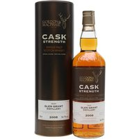 70cl / 56.7% / Gordon & MacPhail - A cask-strength release of eight-year-old Glen Grant, aged in a first-fill sherry hogshead. Bottled at 56.7%, this is big and rich with notes of chocolate, orange and spice.