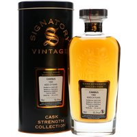 70cl / 52.3% / Signatory - A 1991 vintage single grain whisky from Cambus, bottled by Signatory as part of the Cask Strength Collection. Distilled on 24 July, it was aged in a refill sherry butt for 23 years, yielding 473 bottles on 19 July 2016.