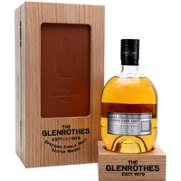 70cl / 47.4% / Distillery Bottling - The oldest release in the first batch of The Glenrothes' UK Exclusives Single Casks series, this was distilled in 1976. Aged for almost 40 years in a refill bourbon hogshead, this has notes of fudge, coconut and apple strudel. This comes with a pair of casters, plinth for the bottle, and a book about the release.