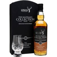 70cl / 43% / Gordon & MacPhail - A 1973 vintage Highland Park released by independent bottlers Gordon & Macphail as part of their Macphail's Collection series.  The gift pack also contains a crystal cut glass.