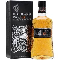 70cl / 40% / Distillery Bottling - Highland Park 12 Year Old remains one of the gold-standard malts for other distillery bottlings to aspire to.  With a delicious sweetness (heather-honey is their preferred description), a trace of smoke and a warming, silky mouthfeel, this is a whisky that never lets you down.