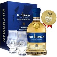 70cl / 46% / Distillery Bottling - A gift pack edition of Kilchoman's first ongoing bottling - Machir Bay. This young and peaty dram is accompanied by a pair of branded Glencairn glasses to help you share and enjoy this whisky from Islay's smallest distillery.