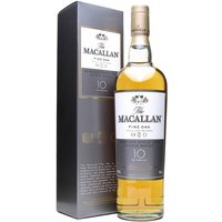70cl / 40% / Distillery Bottling - Macallan 10yo Fine Oak is matured in a combination of Bourbon & Sherry Oak Casks. The Fine Oak range has been around for a few years now and seems to have weathered the storm it caused amongst the faithful when it was initially released.