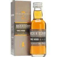 5cl / 43% / Distillery Bottling - A mini of the Auchentoshan Three Wood.  Aged in North American Bourbon casks and finished firstly in Spanish Oloroso sherry casks and then in Pedro Ximenez casks for good measure.