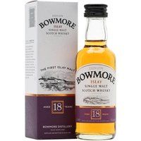 5cl / 43% / Distillery Bottling - A mini of the Bowmore 18 year-old, which replaced the 17 year-old expression in 2007. Probably the most maritime Bowmore we've tried, very kippery.