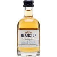 5cl / 46.3% / Distillery Bottling - A miniature bottle of the relaunched Deanston 12 Year Old, previously famous as the whisky used in the much-missed Wallace whisky liqueur.  This has a fresh, floral nose, a light palate and gently sweet maltiness.