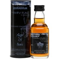 5cl / 46% / Distillery Bottling - A miniature of Edradour at 15 years of age, named The Fairy Flag in celebration of the Scottish feature film of the same name. This has classic sherried notes of dark chocolate and Christmas cake.