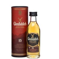 5cl / 40% / Distillery Bottling - A miniature of Glenfiddich's 15 year old, matured using a system similar to the Spanish sherry solera.