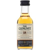 5cl / 43% / Distillery Bottling - A miniature bottle of Glenlivet's consistently excellent 18 year old single malt whisky. A great digestif, balancing richness and light fruity notes.