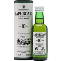 5cl / 40% / Distillery Bottling - A mini bottle of Laphroaig's ever-popular 10 year old.