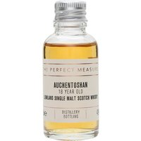 3cl / 43% / The Perfect Measure - Aged entirely in American oak, this 18-year-old from Auchentoshan is fresh and floral with notes of tangerine and barley sugar.