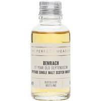 3cl / 46% / The Perfect Measure - The 17-year-old peated offering from Benriach, Septendecim is light and sweet with notes of vanilla and smoke.