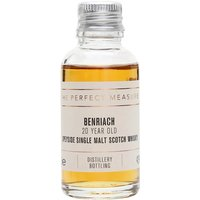 3cl / 43% / The Perfect Measure - A rich and full-bodied 20-year-old whisky from Benriach. This has notes of honey, vanilla, apple, spice, chocolate and nuts.