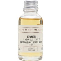 3cl / 54.9% / The Perfect Measure - The sixth release of Bowmore�s cask-strength 10-year-old: Tempest. Matured in first-fill bourbon barrels, this is a peaty, smoky and fruity dram with great balance.