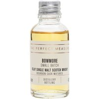 3cl / 40% / The Perfect Measure - Matured in a combination of first-fill and refill bourbon barrels, Bowmore Small Batch is sweet, spicy and smoky.