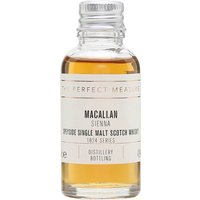 3cl / 43% / The Perfect Measure - Sienna is matured in sherry casks at Macallan. It shows excellent balance between spice and sweet, dried fruit.