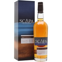 70cl / 40% / Distillery Bottling - This lightly smoky whisky from Scapa was aged initially in American oak before being finished in ex-peated-whisky casks. The result is fruity and creamy whisky with notes of peach, vanilla, caramel and soft smoke.