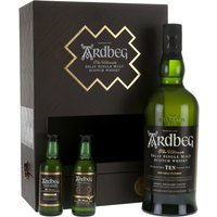 80cl / 47.2% / Distillery Bottling - This great gift set makes the perfect present for fans of smoky whisky. It contains a bottle of Ardbeg's excellent 10 Year Old, along with miniature bottles of Uigeadail and Corryvreckan.
