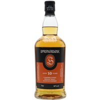 70cl / 46% / Distillery Bottling - Springbank 10's relatively light colour belies its richness of character. The nose moves from citrus fruits to pears and a hint of peat, while the palate shows touches of smoke, vanilla essence, nutmeg, cinnamon and the salty tang characteristic of the distillery. A winner at the World Whiskies Awards 2014.