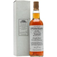 70cl / 46% / Distillery Bottling - A very special edition of Springbank 21yo bottled only for directors & staff, this was the first bottling done to commemorate the new millennium, meaning the whisky in the bottle would have been distilled in the 1970s.