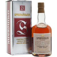 70cl / 46% / Distillery Bottling - An old bottle of Springbank 21 year old. This was bottled sometime in the 1990s and was bottled in a more dumpy bottle that their current releases.