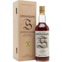 70cl / 46% / Distillery Bottling - This is the 30 year old bottling from Springbank's much lauded Millennium Set.  The set of 6 contained whiskies bottled at 25, 30, 35, 40, 45 and 50 years of age.  This received an impressive average of 91 points from 7 of the Malt Maniacs.