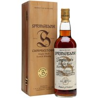70cl / 46% / Distillery Bottling - This is the 30-year-old bottling from Springbank's much lauded Millennium Set.  The set of six contained whiskies bottled at 25, 30, 35, 40, 45 and 50 years of age.  This received an impressive average of 91 points from seven of the Malt Maniacs.