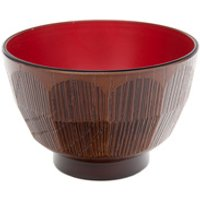 Miso Soup Bowl - Brown And Red