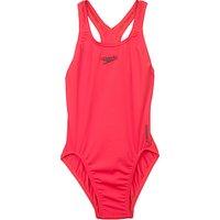 Speedo Girls Medalist Swimsuit, Red