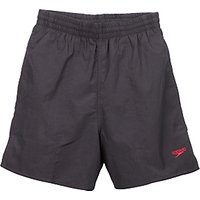 Speedo Boys Solid Leisure Water Shorts, Black