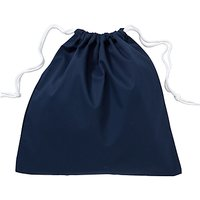 School Linen Shoe Bag, Navy