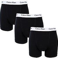 Calvin Klein Underwear Cotton Stretch Trunks, Pack of 3, Black
