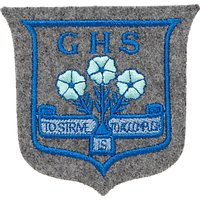 Grittleton House School Blazer Badge, Grey/Blue