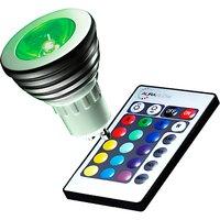 Auraglow 4W GU10 Spotlight LED Bulb and Remote Control, Multi