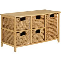 John Lewis Water Hyacinth Storage Unit, 5 Drawers