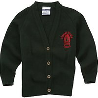 Chapel Fields Junior School Girls Cardigan, Bottle Green