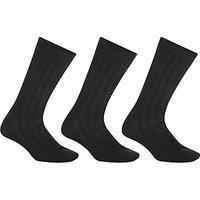 John Lewis Pure Mercerised Cotton Socks, Pack of 3