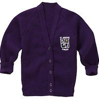 St Joseph The Worker Catholic Primary School Girls Cardigan, Purple
