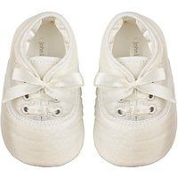 John Lewis Baby Laced Shoes, Cream