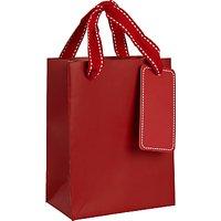 John Lewis Gift Bag, Red, Small