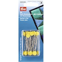 Prym Quilters Flat Flower Pins, 60 x 50mm, Pack of 50