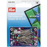 Prym Pearl Head Pins, Assorted Colours, 38mm, Pack of 40