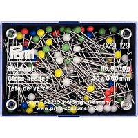 Prym Glass Headed Pins, Various Colours, Pack of 100