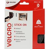 VELCRO Brand Stick On Squares, Black