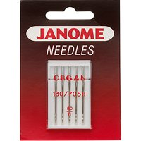 Janome Standard Sewing Needles, Sizes 9-16, Pack of 5